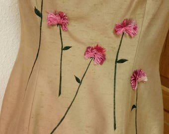 Vintage Spaghetti Strap Silk Sheath Dress with Sheer Chiffon Coat