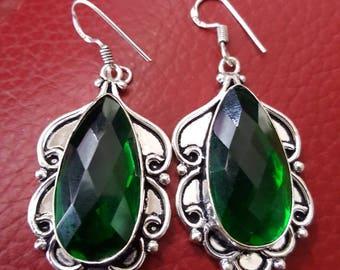 Green Quartz Earrings !