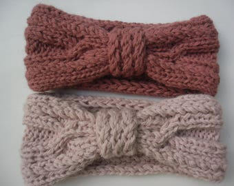 HEADBAND HEAD BAND Alpaca pink dark and light pink