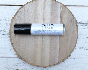 Energize Essential Oil Roll On // Aromatherapy Roller Bottle Blend / DoTerra / Young Living / Energy / Holistic Fatigue Remedy