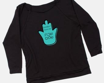 Shabbat Shalom Women's 3/4 Sleeve Cozy Shirt