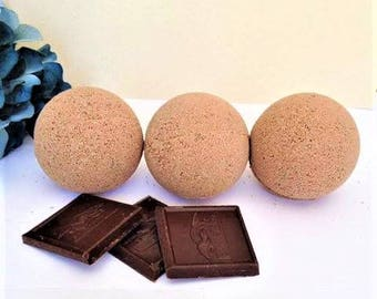 Hot Chocolate Bath Bomb/Marshmallow/Vegan/Bath Fizzies/Vanilla/Hot Cocoa/Christmas