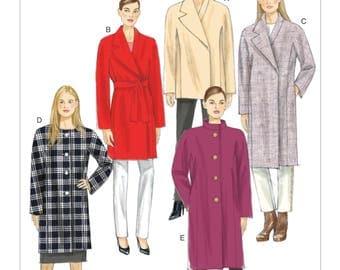 Vogue V9137 Size 4-14 or 16-26 Misses Loose Fitting Lined Coat or Jacket Sewing Pattern  / Uncut FF