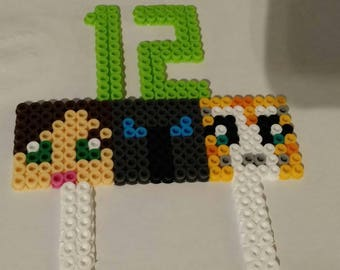 Minecraft cake topper (GamingwithJen, PopularMMOs, & Stampy Cat)