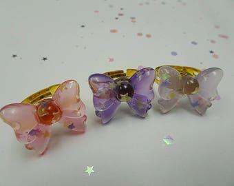 Lovely Bow Ring Set