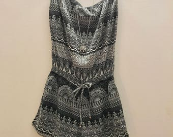 Boho ethnic playsuit