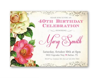 formal birthday party invitations