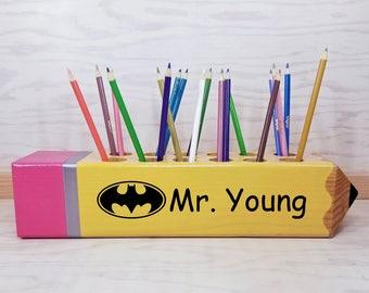 Teacher gift - Batman - classroom decoration - Teacher appreciation gift - Personalized gift - teacher - wood sign