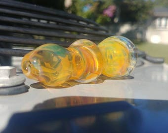 Silver Fumed Inside-Out Glass Chillum-One Hitter (Color Changing)