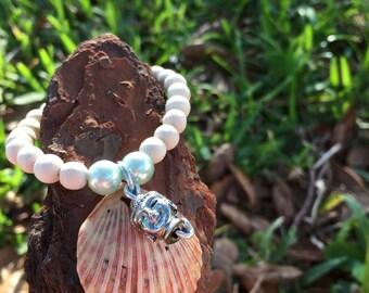 Buddha sea shell bracelet