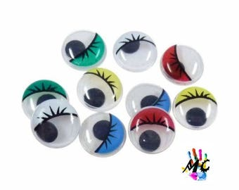set of 42 eyes mobile colors
