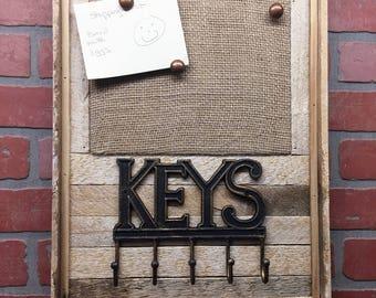 Pin Board, Pinboard, Letter Holder, Burlap Pinboard, Burlap Pin Board, Rustic Pinboard, Rustic Pin Board, Rustic Letter Holder, Farmhouse