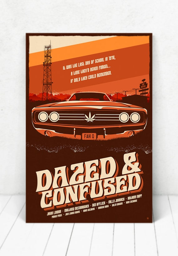 Dazed And Confused Movie Poster - Illustration / Dazed And Confused / Movie Poster
