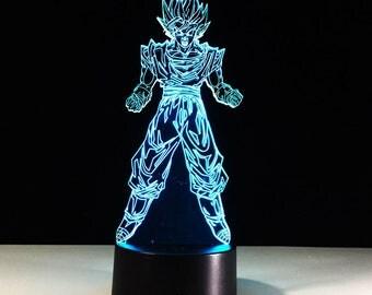 Dragon Ball Z Saiyan Son Goku 3D LED