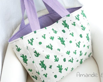 "CACTUS - collection ""Mojito"" Amande starry tote bag"