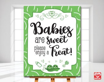 Peas in a Pod Baby Shower Sweet Table Sign, Dessert Table, Twin Shower, Sweet Pea, Gender Neutral Shower, Instant Download, Printables, JPG