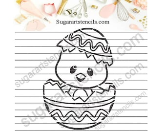 PYO Cookie stencil Easter chick NB60093