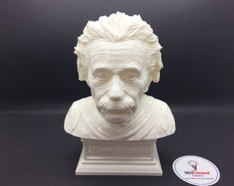 Albert Einstein 3D Printed Polished Vinyl Sculpture