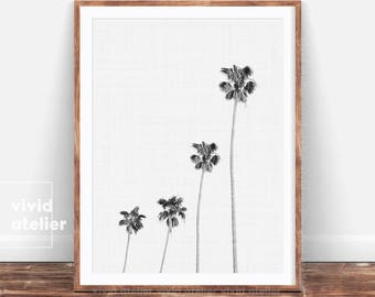 Black and White Palm Tree Print, Palm Poster, Modern Wall Art, Tropical Decor Wall Art, Palm Printable, Best selling items, Tropical Print