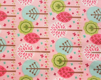 Sewing Project, Summer, Girls Clothes, Kids Sewing Kit, Pink, Trees, Riley Blake Designs, Lightweight, 100% Cotton Fabric, Half Metre