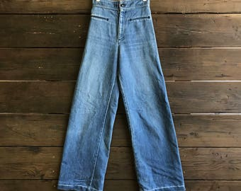 Vintage 70s Levis Wide Leg High Waisted Jeans