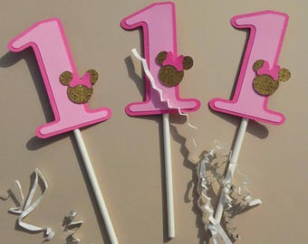 Minnie Mouse Cupcake Topper, Minnie Cupcake Topper, Minnie Mouse, Mickey Mouse, 1