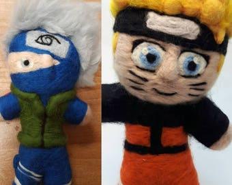 Felted Naruto characters - Naruto (shippuden), Kakashi