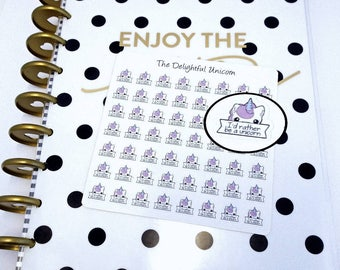 Unicorn stickers, unicorn planner stickers, cute stickers, planner accessories, planner gifts