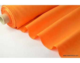 tissu faux uni orange pour nappe et décoration ..x 1m