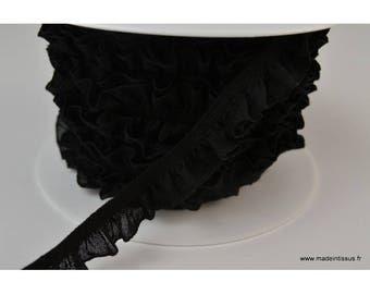 Elastic ruffle 16mm black