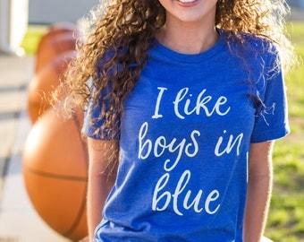 Kentucky Shirt / Kentucky Tee / University of Kentucky / I Like Boys in Blue / Basketball / Kentucky Wildcats / Bella / Kentucky State