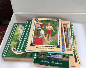 American Girl Trading Cards with holder for each Doll, variety of cards available, Excellent Condition