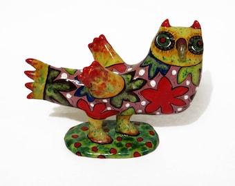 Ceramic owl sculpture | bird ceramic sculpture | owl figurine