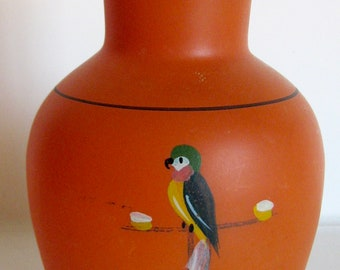 SPRING SALEVintage Tiffin Parrot Orange Vase Base Art Deco 1920s