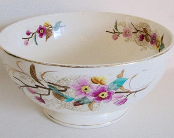 SPRING SALEAntique Bowl Aesthetic Polychrome Transferware