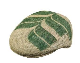 "Upcycling flat Cap Flatcap ""Café espresso""-subject ""Reed"" (size: 55 cm)"