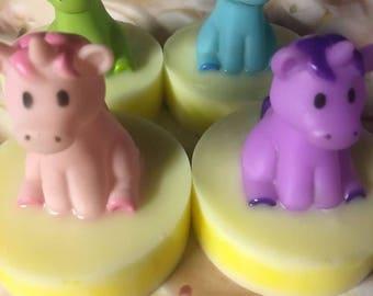 Unicorn Soaps,Kids Bath Soaps, Candy Crush,Rainbow Fun Soaps, Toy Soaps, Favors, Birthday