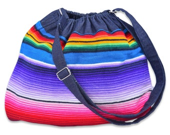 Handmade Crossbody Mexican Serape Bag
