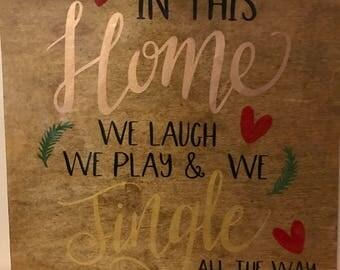 Home Christmas Sign