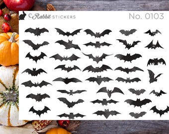 Bat stickers - 0103 fall stickers, Halloween stickers, Just a Bunch of Bats, Happy Planner, Day Designer, bullet journal