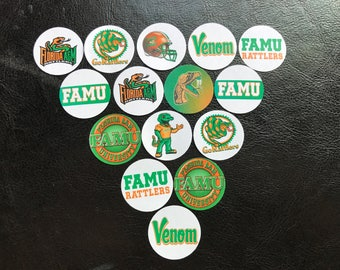 Florida A&M FAMU Buttons Set of 15