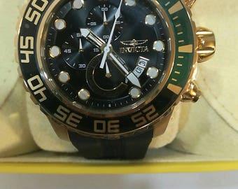 Invicta 52mm Pro Diver Manta Ray Quartz Chronograph Stainless Steel Polyurethane Strap Watch #7