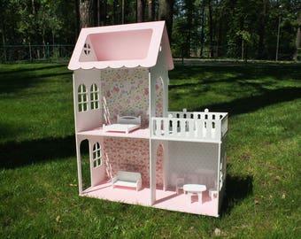 Wooden Dolls house, Barbie doll house, Dollhouse furniture, Plywood house, House for Doll, House Barbie, Wooden House, Dollhouse 3 floors