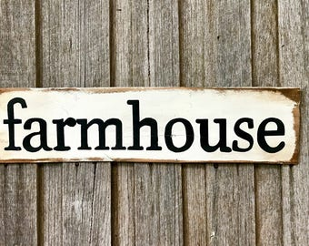 FARMHOUSE -  Recycled Timber Sign