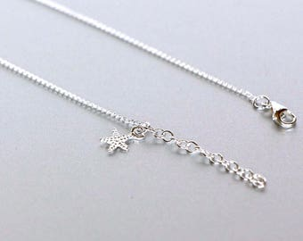 Starfish Anklet, Sterling Silver Anklet, Delicate Anklet, Foot Chain, Boho Anklet, Gift Jewelry, Feet Accessories, (AS120)