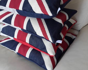 Large cushion cover or the route 66 shield Union Jack design