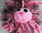 Pinkie Lion, 11 in tall Lion Plush, Handmade plush sock lion toy, Lion Plush, Sock Lion, Lion, Kid Toy, Handmade Sock Animal