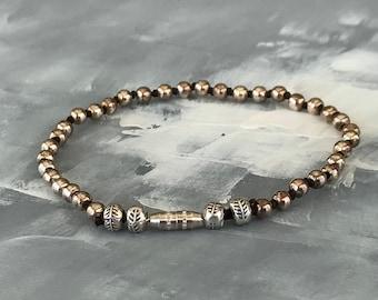 Beaded Sterling Silver 925 Bracelet