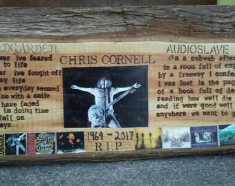 Chris Cornell handmade woodburn