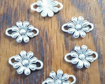 Lot 6 Tibetan silver connectors charms